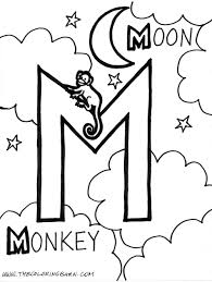Small Picture M for Moon M for Monkey Alphabet M Pinterest Monkey
