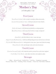 family menu template mothers day family menu mother s day menus