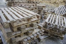 stock photo used wood pallet at construction site stacked up ready for reuse used pallets p19 wood