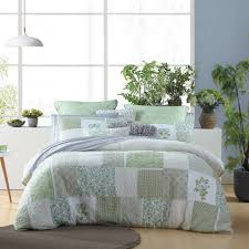 Gillian Green Quilted Quilt Cover Set - MyHouse & Gillian Green Quilted Quilt Cover Set Adamdwight.com