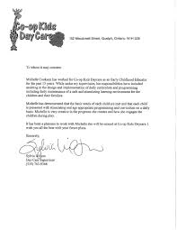 Personal Letter Of Recommendation For Daycare Worker
