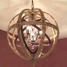 metal orb decor wooden orb chandelier metal orb detail and intended for impressive orb chandelier applied metal orb
