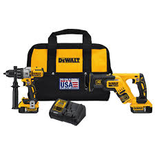 home depot dewalt drill. dewalt 20-volt max xr lithium-ion cordless brushless premium drill/reciprocating saw combo kit (2-tool) with (2) batteries 5ah-dck294p2 - the home depot dewalt drill r
