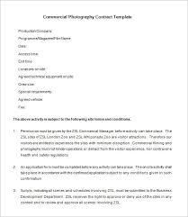 7 Commercial Photography Contract Templates Free Word Pdf