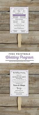 Printable Wedding Program Templates Free Printable Wedding Program Mountainmodernlife Com