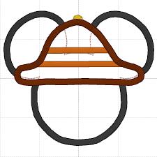 Safari Mickey Applique Design Mickey Mouse Embroidery Applique Designs