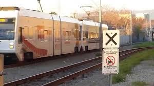Vta Light Rail Timetable Vta Light Rail Train Vta Train Rolling Down Railroad