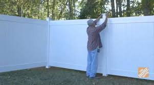 vinyl fencing. Building A Vinyl Fence - Fencing How To Videos And Tips At The Home Depot R