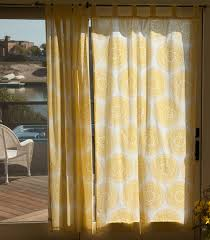 yellow indian bohemian sheer curtain