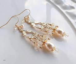 pearl hoop earrings gold new pearl gold chandelier earrings swarovski crystal pearl long