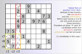 Sudoku Number Combinations Chart Sudoku Help And Game Instructions