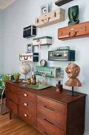 view in gallery flat vintage suitcase shelves