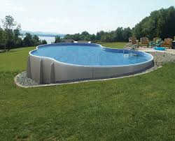 image of above ground pool landscaping outdoor