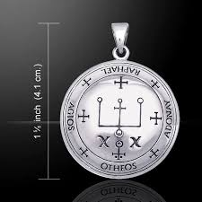sigil of the archangel raphael 925 sterling silver pendant by peter