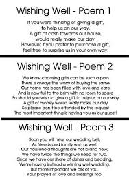 wording on wedding invitation for money instead of gifts inspirational wishing well cards to add to