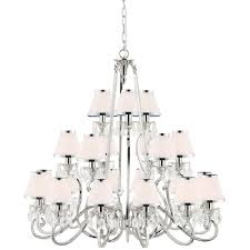 oksana large 21 light traditional nickel chandelier with white shades