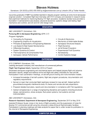 Sample Resume For An Entry Level Aerospace Engineer Monster Com