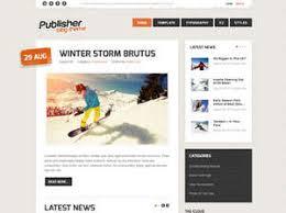 Publisher Personal Blog Joomla Template Gavickpro