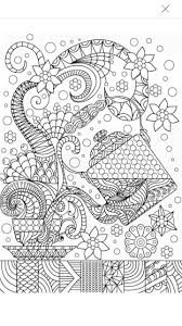 Tea Coffee Coloring Page