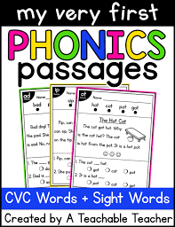 This collection of free reading comprehension worksheets is geared to early readers. Kindergarten Reading Passages With Cvc Word Families