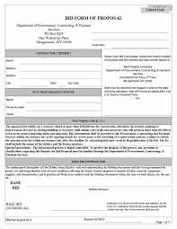 Bid Form For Construction 31 Construction Proposal Template Construction Bid Forms