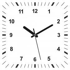 3d realistic square shaped clock