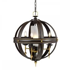 black and gold 4 light orb ceiling pendant