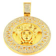 tvj172401 custom diamond medusa head pendant tvj172401