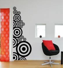 creative wall-design black white contrast