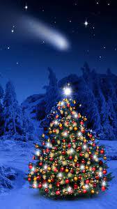 Winter Christmas Tree iPhone Wallpaper ...