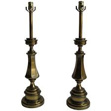 pair of solid brass stiffel lamps for