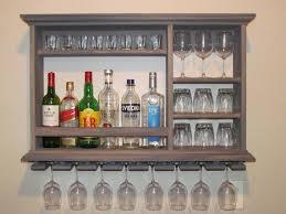mini bar weathered gray wine rack 3 x2