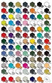 Formula 1 Modeler Color Charts