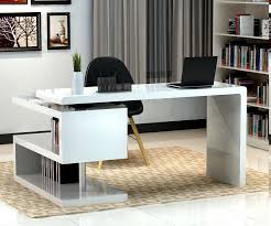 futuristic office chair. Fabulous Contemporary Home Office Furniture With Cool Futuristic Desk Design Also Black Chair White Wall Color
