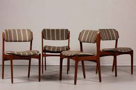 upholstered dining room chairs awesome mid century od 49 teak dining chairs by erik buch for
