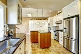 Bright Kitchen Bright Kitchen Room With Granite Tops Kitchen Island And White