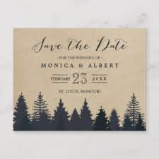 Winter Wedding Save The Date Winter Save The Date Gifts On Zazzle