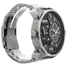 big face watches diesel men s sba silver watch perfection big face watch leather bands are desired by enthusiasts who personalize their watches mostly these straps are available for big face watches for men
