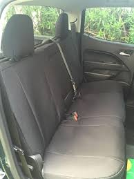 2016 chevy colorado rear black cordura seat covers we provide a separate armrest cover that allows for the full operation of the armrest