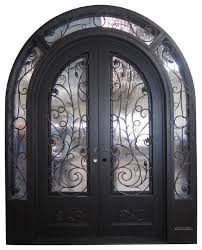 86 x108 wrought iron front double door with double low e glass mediterranean front doors by mcm3 llc
