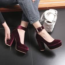 Yesstyle Shoe Size Chart Chunky Heel Platform Velvet Pumps