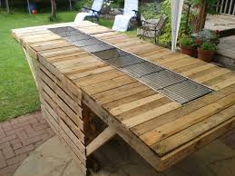 Decking Using Pallets The 8ft Bbq Made Out Of Pallets O Pallet Ideas Pallet Wood
