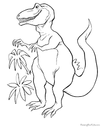 Small Picture Dinosaur Coloring page 002