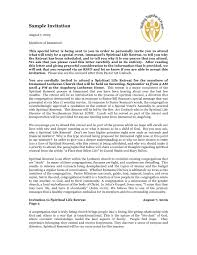invitation letter for church seminar new church invitation letter format best sle invitation letter for