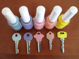 Colour code your keys...with nail polish!