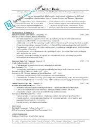Administration Job Duties Resume Business Administration Job