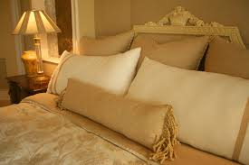 king pillows on queen bed. Wonderful Bed The Gold And Ivory Design Scheme Of This Room The Intricate Attention  To Detail Make Inside King Pillows On Queen Bed