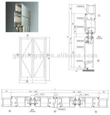 open double door drawing. Aluminium Inward Open Door Cluster ( Mother And Son Door) Double Drawing