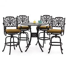 Patio Outdoor Patio Bar Sets Clearance Height Bistro Set Cover