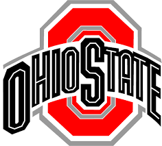 Ohio State Buckeyes Logo - Ohio State in black written across a red ...